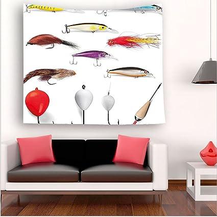 nalahome-fishing Decor malla materiales con giratorio pomos flotadores de pesca con mosca Gaffs recreativas