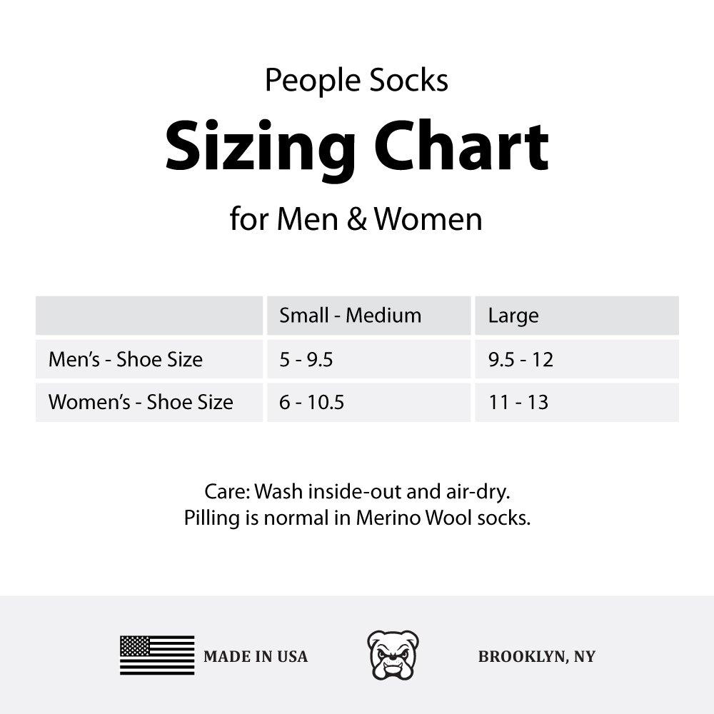 People Socks Brown Small-Medium 4pairs 71% Premium Merino Wool Crew Hiking Socks Made in USA by People Socks