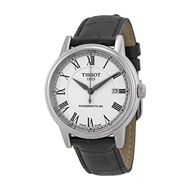 Tissot Carson White Dial SS Leather Automatic Men s Watch T0854071601300