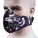 Dustproof Mask, ANGOO Activated Carbon Filtration Dust Mask Training Cycling Half Face Mask filter Dust Exhaust Gas, Anti Pollen Allergy PM 2.5 for Outdoor Activities