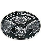 Harley-Davidson Men's Belt Buckle, Screaming Eagle V-Twin, Silver HDMBU10712
