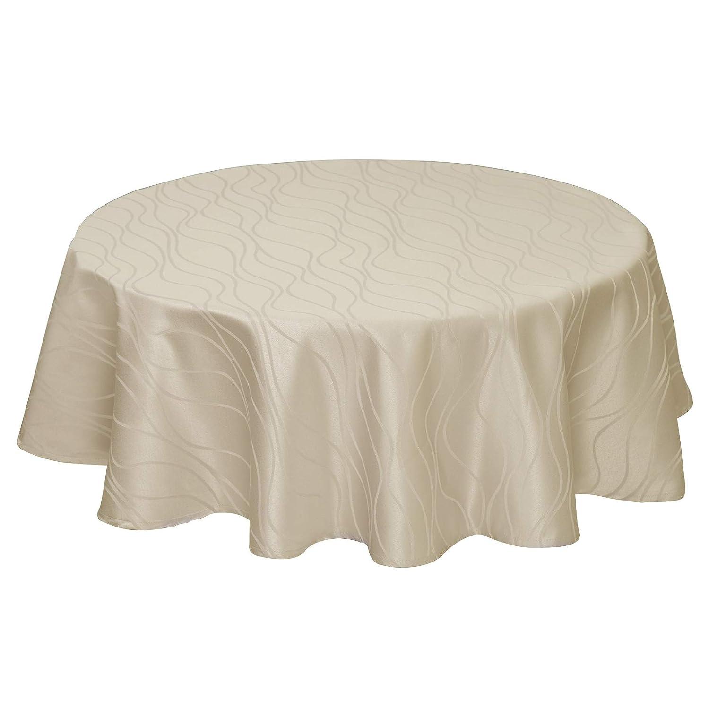 EUGAD 0178ZB Nappe damass/é Motif ray/é Tissu de Table Ornements Design imperm/éable Non repassable rectangulaire 110x140 cm Bordeaux