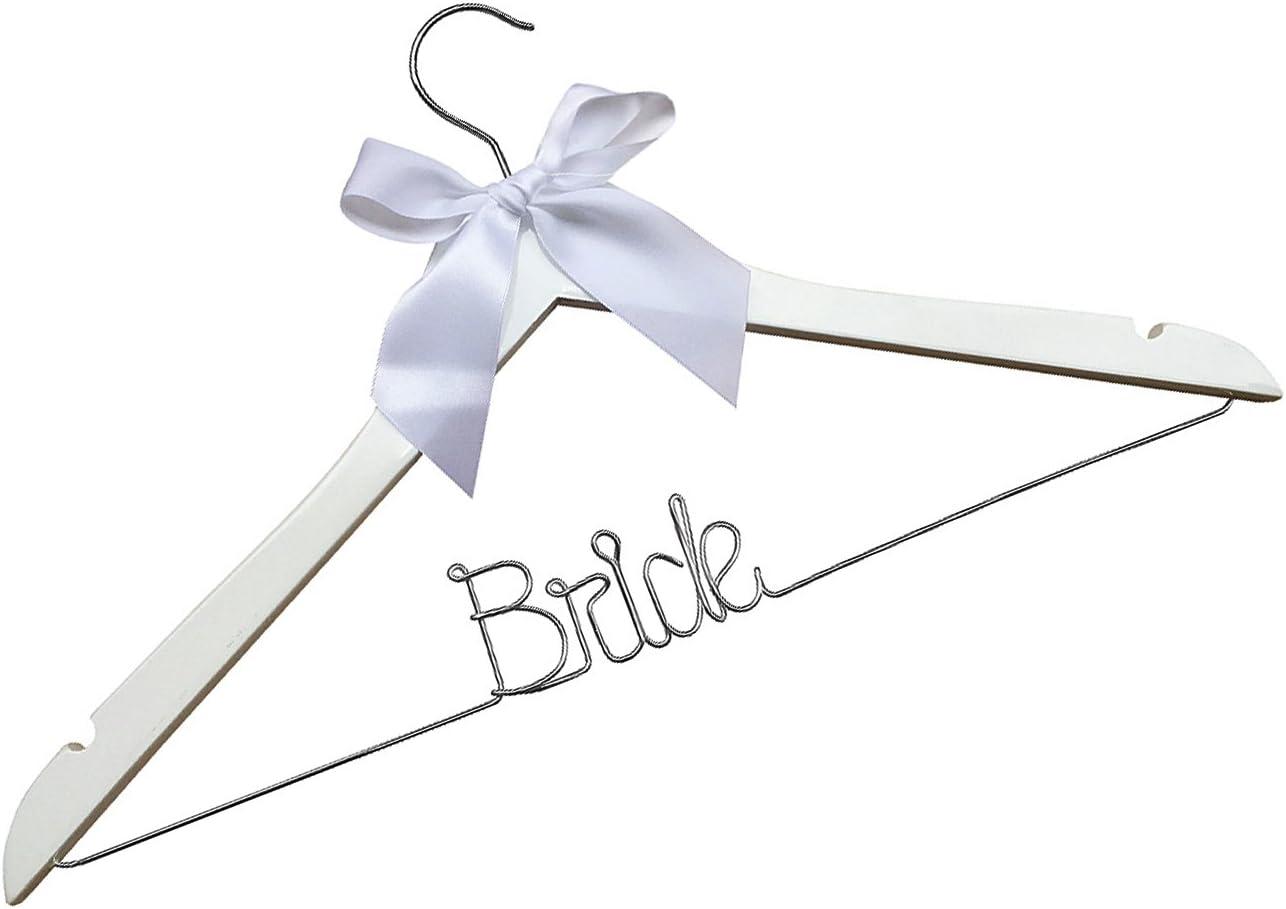 Bridal Gift Wedding Dress Hanger Personalized Bridal Hanger Custom Wire Name Hanger