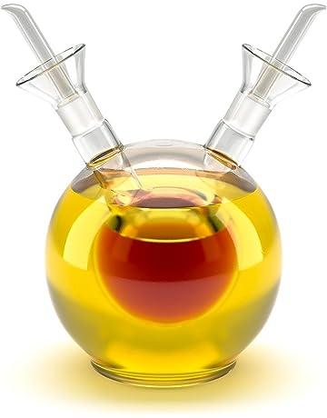 Aceitera y vinagrera esférica de 125 ml en Vidrio.