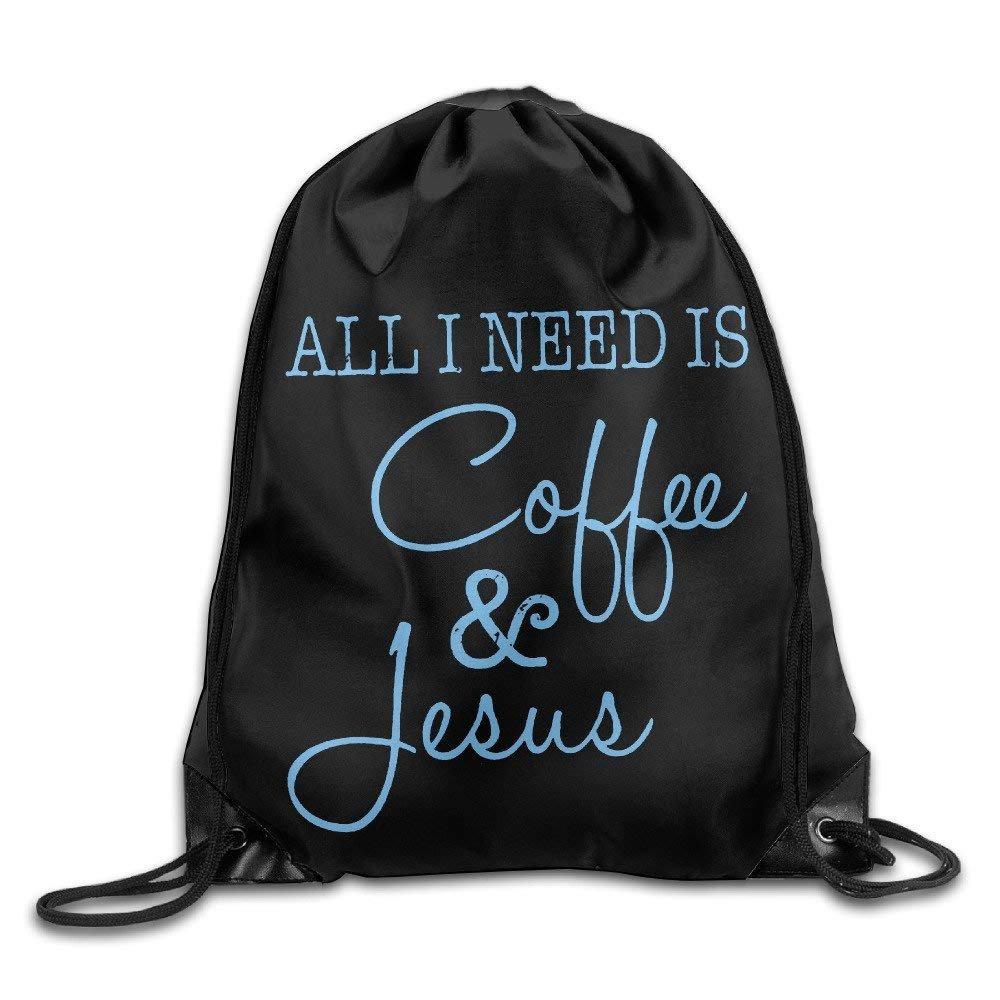 Wellay All I Need Is Coffee and Jesus Cool - Mochila con cordó n