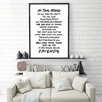 How You Doin Joey Friends Tv Series Show Poster Print Wall Decor Gift Quote