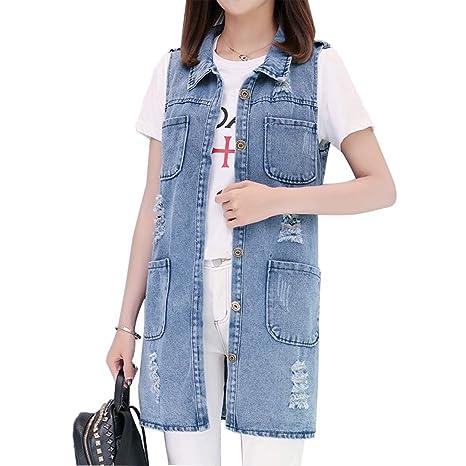 SUNFURA Mens Casual Denim Vest Regular Fit Distressed Sleeveless Jean Jacket