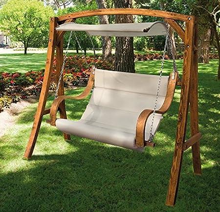 AFT - Balancin jardín madera c/parasol: Amazon.es: Hogar