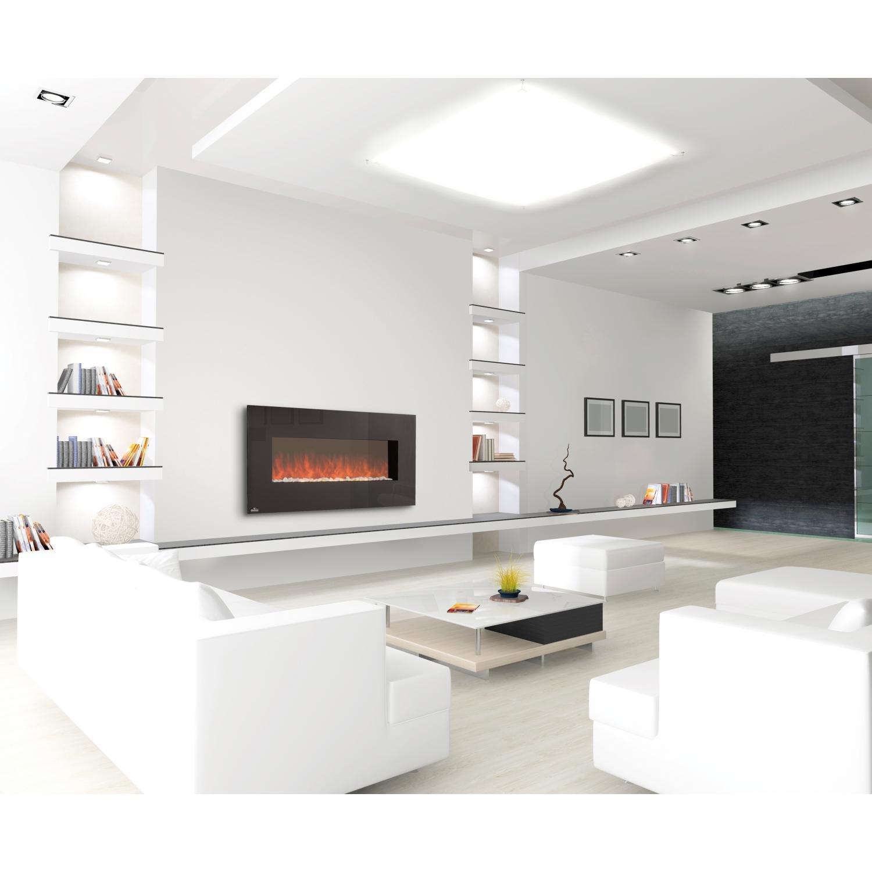 amazon com napoleon 48 linear wall mount electric fireplace efl48