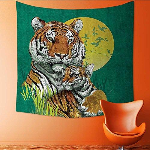 Nalahomeqq Safari Decor Custom Tapiz por Siberian Tigers en Cascada de Agua Piscina Woodland Natación Asiática Natural...