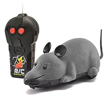 eocusun eléctrico Control remoto ratón mando a distancia Animal juguetes de mascota gato juguetes ratón negro marrón gris: Amazon.es: Productos para ...