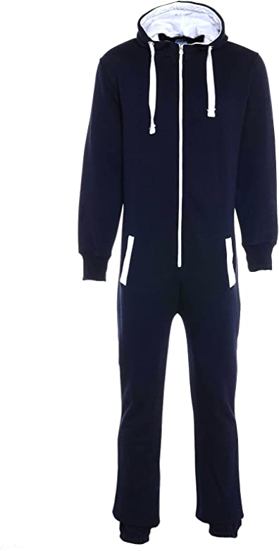 Mymixtrendz/® Unisex Boys Kids Plain Onesie Zip UP All in One Hooded Jumpsuit 7-13