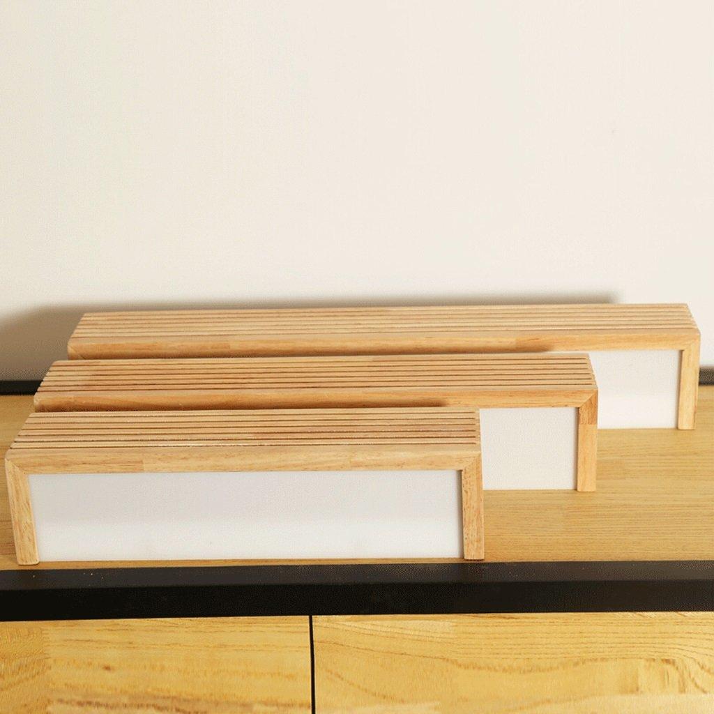 madera impermeable luces delanteras del espejo de la madera s/ólida QZz cuarto de ba/ño L/ámpara de pared de madera maciza,4500K LED Tama/ño : 12w35cm
