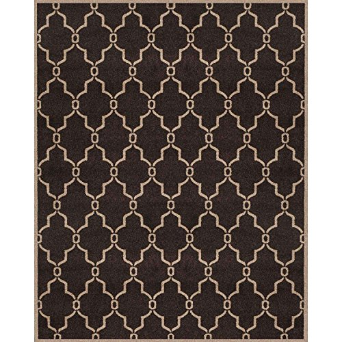 - Safavieh Newport Collection NPTS879D Links Chocolate Wheat Area Rug (8' x 10')