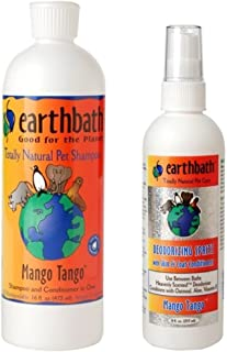product image for Earthbath Natural Dog Mango Tango Grooming Bundle - (1) Each: Shampoo and Conditioner (16 ounces) and Deoderizing Spritz (8 Ounces)