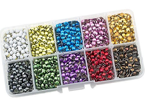 Summer-Ray SS16 4mm Assorted Colors Hot Fix Rhinestuds in Storage -