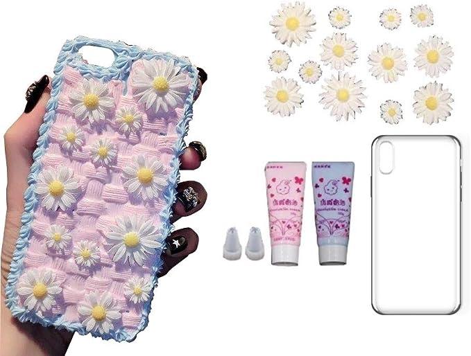 Amazon Com Phone Case Diy Set Full Accessories Stuff Case Diy Kit Lazyfatcat Iphone X 10