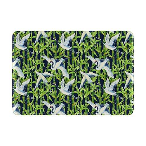 Coosun Aquarell asiatischen Kran Vogel Muster Leder Passhülle Cover für Reisen eine Tasche