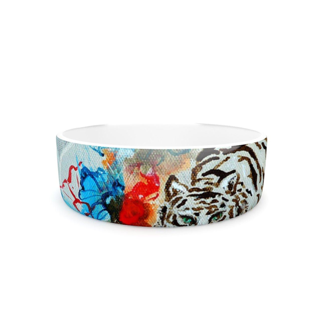 Kess InHouse Sonal Nathwani Tiger  Pet Bowl, 7-Inch