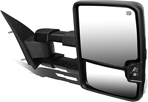 Driver And Passenger Sides DNA MOTORING TWM-020-T888-BK-SM Pair Of Towing Side Mirrors
