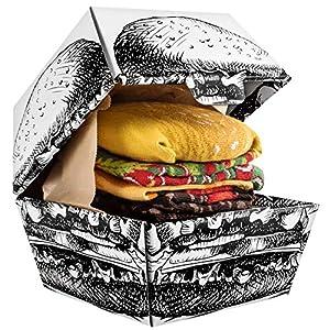 Rainbow Socks – Femmes Hommes Chaussettes Hamburger – 2 Paires