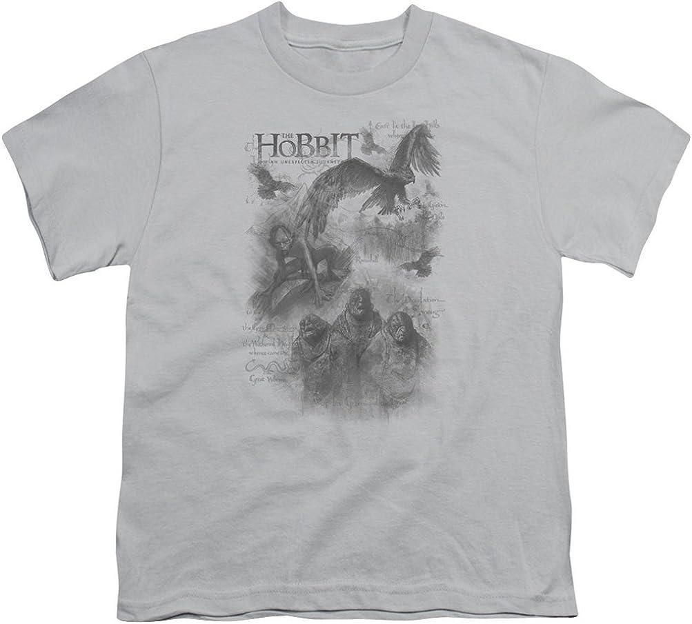 PUTIEN Forest Girl Regular-Fit Short-Sleeve Shirt,Personality Pattern,Coniferous Forest