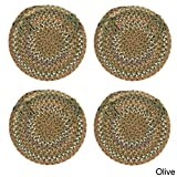 Cedar Cove Chair Pad, Olive, Set of 4 For Sale