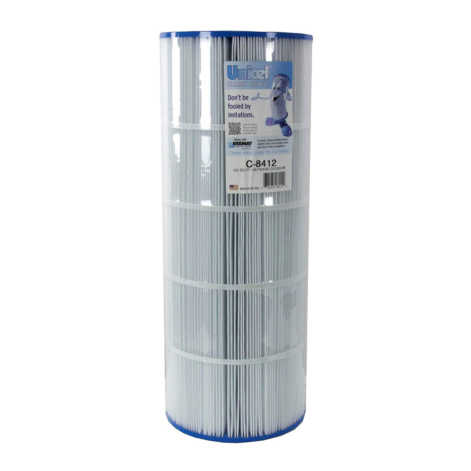 Unicel C-8412 Replacement Filter Cartridge for 120 Square Foot Hayward CX1200RE, Waterway Pro Clean 125, Waterway Clearwater II 125 by Unicel