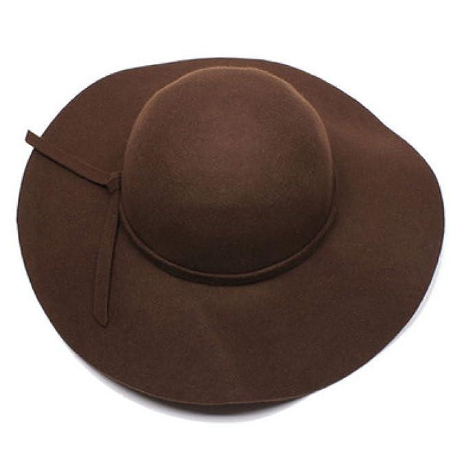 NIAISI Otoño Invierno Upmarket Siesta Sombrero Formal Sombrero De Derby Con  La Banda Para Dama  Amazon.es  Ropa y accesorios 3c072648ede