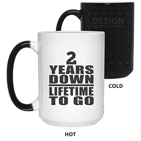 anniversary best gift idea 2 years down lifetime to go 15 oz color changing mug