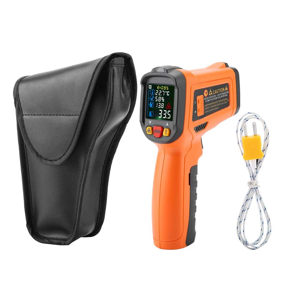 Akozon Digital Infrared Thermometer PM6530D High Precision Backlight Data Hold Non-Contact Thermometer Gun -50℃~800℃(-58℉~1022℉) Digital Infrared Thermometer with K-Type