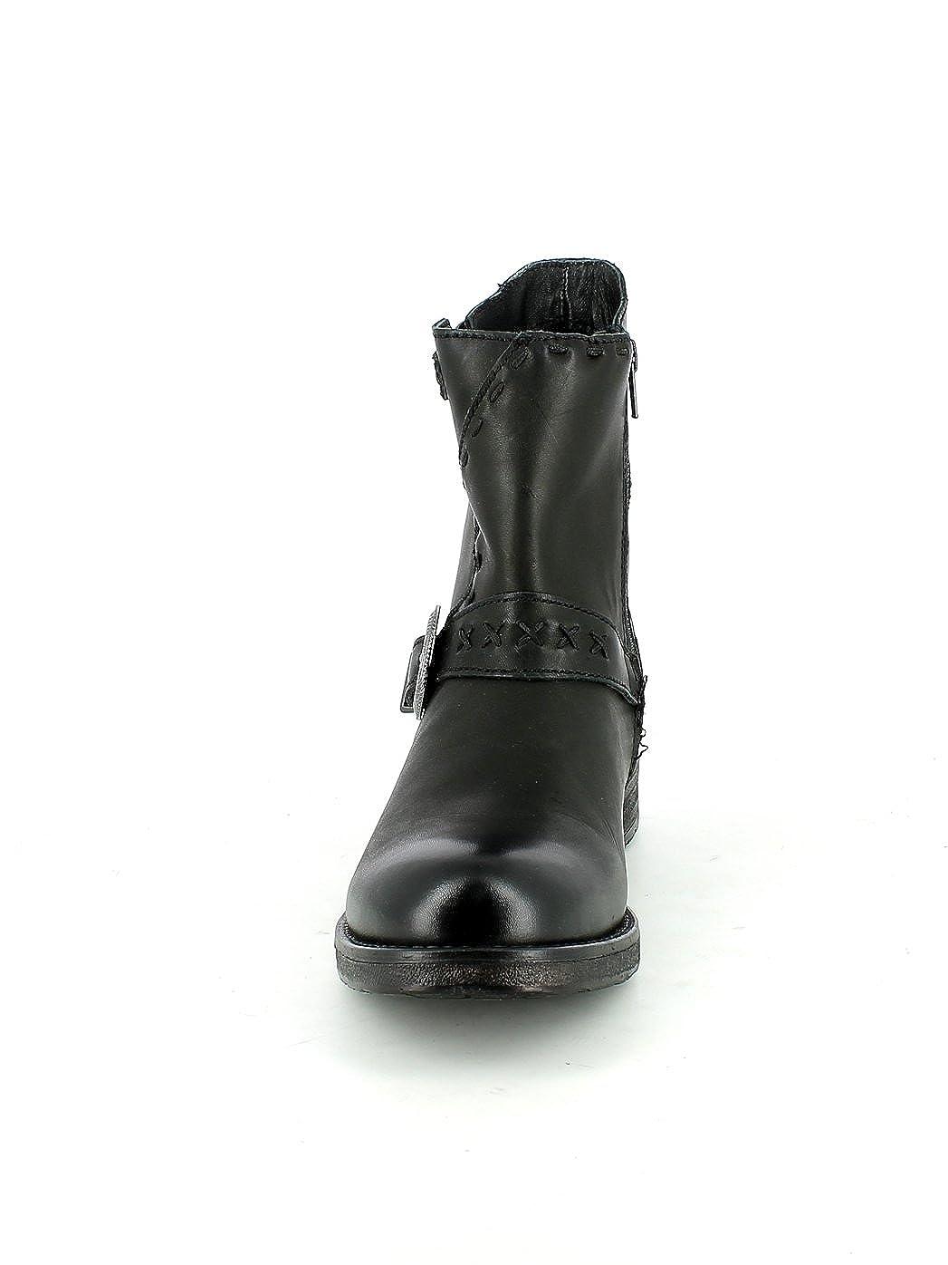 Cuir Noir Homme Femme Inuovo Bottes En qxqPZ6Cw