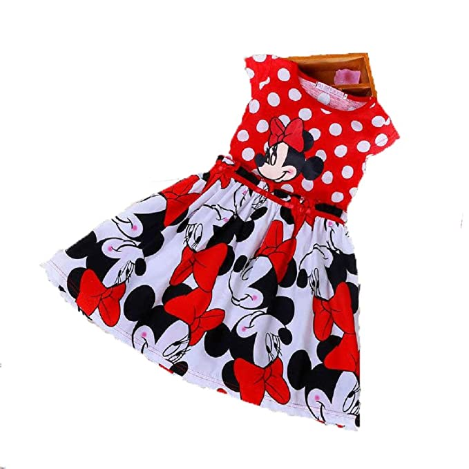76589c8e58 Image Unavailable. Image not available for. Color: Baby Girls Dot Mickey  Mouse Minnie Dress