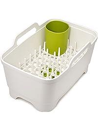 Joseph Joseph 85101 Wash & Drain Plus Dishpan and Dish Rack Utensil Holder Set with Dishwashing Basin Dryer Dish Rack...
