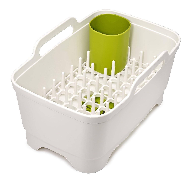 Joseph Joseph 85102 Wash & Drain Plus Dishpan and Dish Rack Utensil Holder Set, Gray