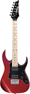 Ibanez GRGM 6 String Solid-Body Electric Guitar, Right, Candy Apple (GRGM21MCA)