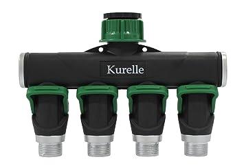 4 Way Water Hose Splitter Connector By Kurelle Heavy Duty Water