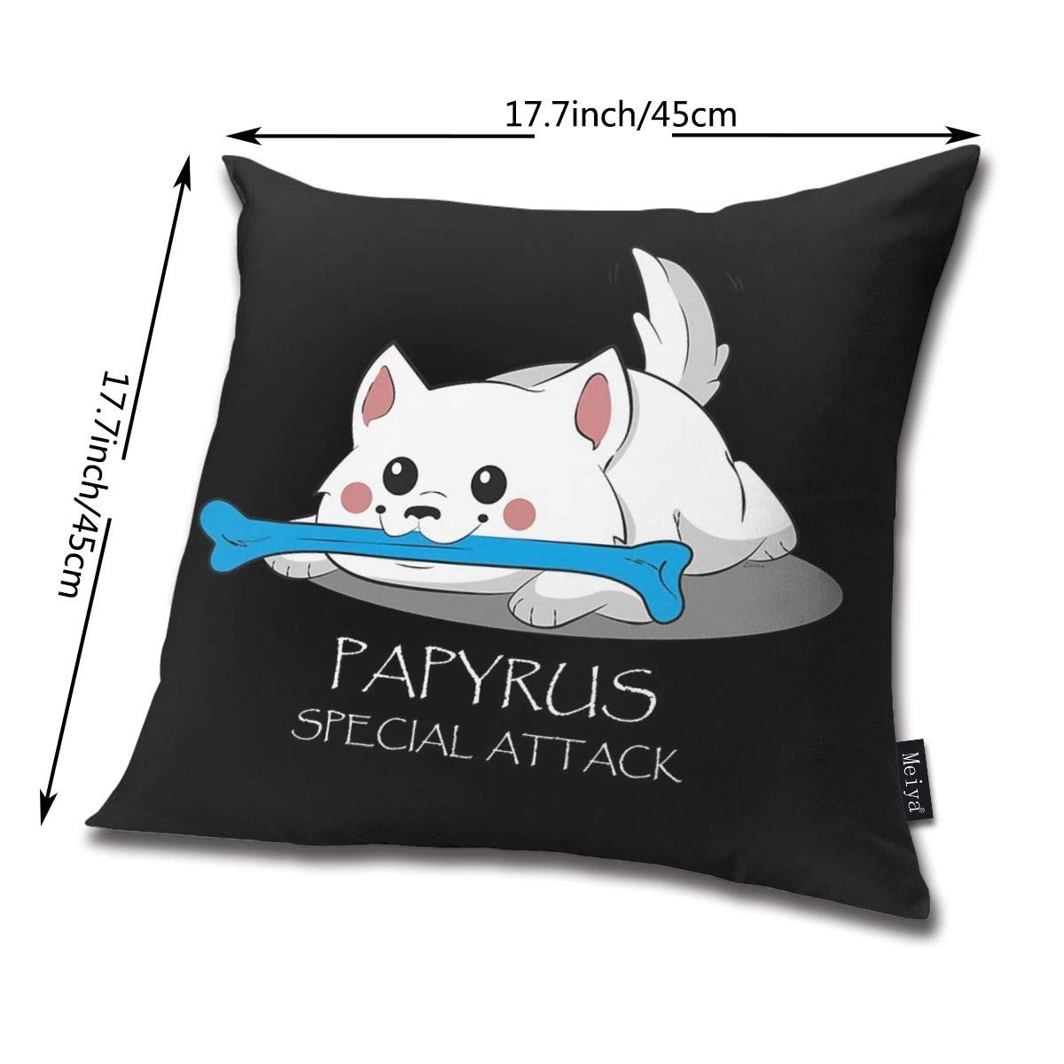 Papyruss Special Attack Decorative Pillow Case Home Decor Square 18x18 Inches Pillowcase QMS CONTRACTING LIMITED Throw Pillow Cover Undertale