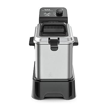 Tefal Easy Clean & Store - Freidora, hasta 1 kg de comida/3.5 L de aceite, 190 C, color plata y negro