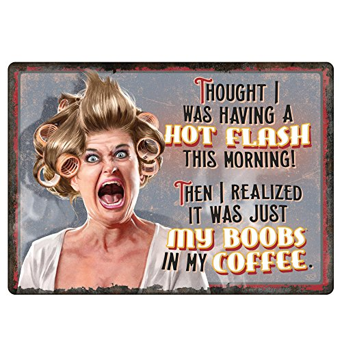 River's Edge Hot Flashes/Coffee Tin Sign