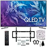 Samsung QN49Q6FAMFXZA Special Edition 49' Class Q6F QLED 4K TV (2017 Model) with Flat & Tilt Wall Mount Kit Plus 6-Outlet Surge Adapter Bundle