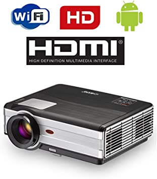 Android WiFi proyector 4000 lúmenes-Apoyo 1080p HD WiFi Airplay ...