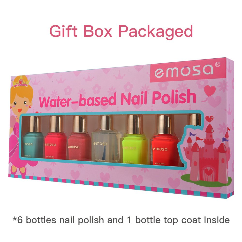 Emosa Nail Polish Kid and Girls Non Toxic Water Based Fast Drying ...