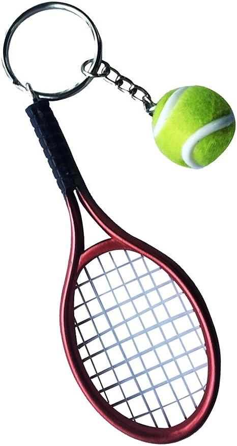 Colgante Llavero En Forma de Mini Pelota de Tenis Raqueta - Rojo ...