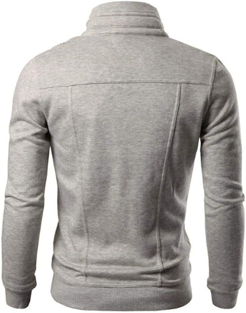 Hommes Automne Hiver Solide /À Manches Longues Pull avec des Boutons De Mode Slim Con/çu /À Capuche Top Cardigan Manteau Veste Lonshell