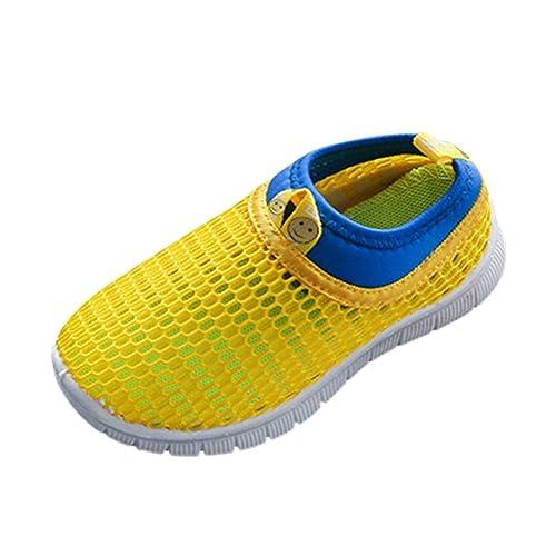 6e5679f03 Malloom bebé niño niña Zapatos Caramelo Color Tela Malla Casual Sport  ventilar Zapatillas Sneakers (22