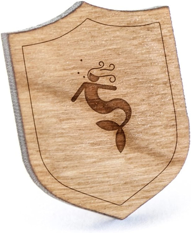 Nymph Lapel Pin Wooden Pin