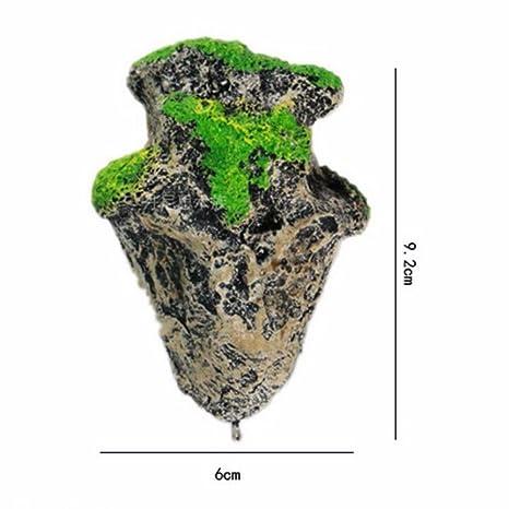 Yiitay Decoración de acuario artificial para pecera, forma de pómez flotante, piedra suspendida paisaje