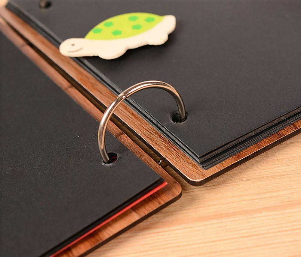 WDOIT Retro Handmade DIY Sticker Album portafoto Laurea Album Foto Album Fotografico in Legno da 20/cm