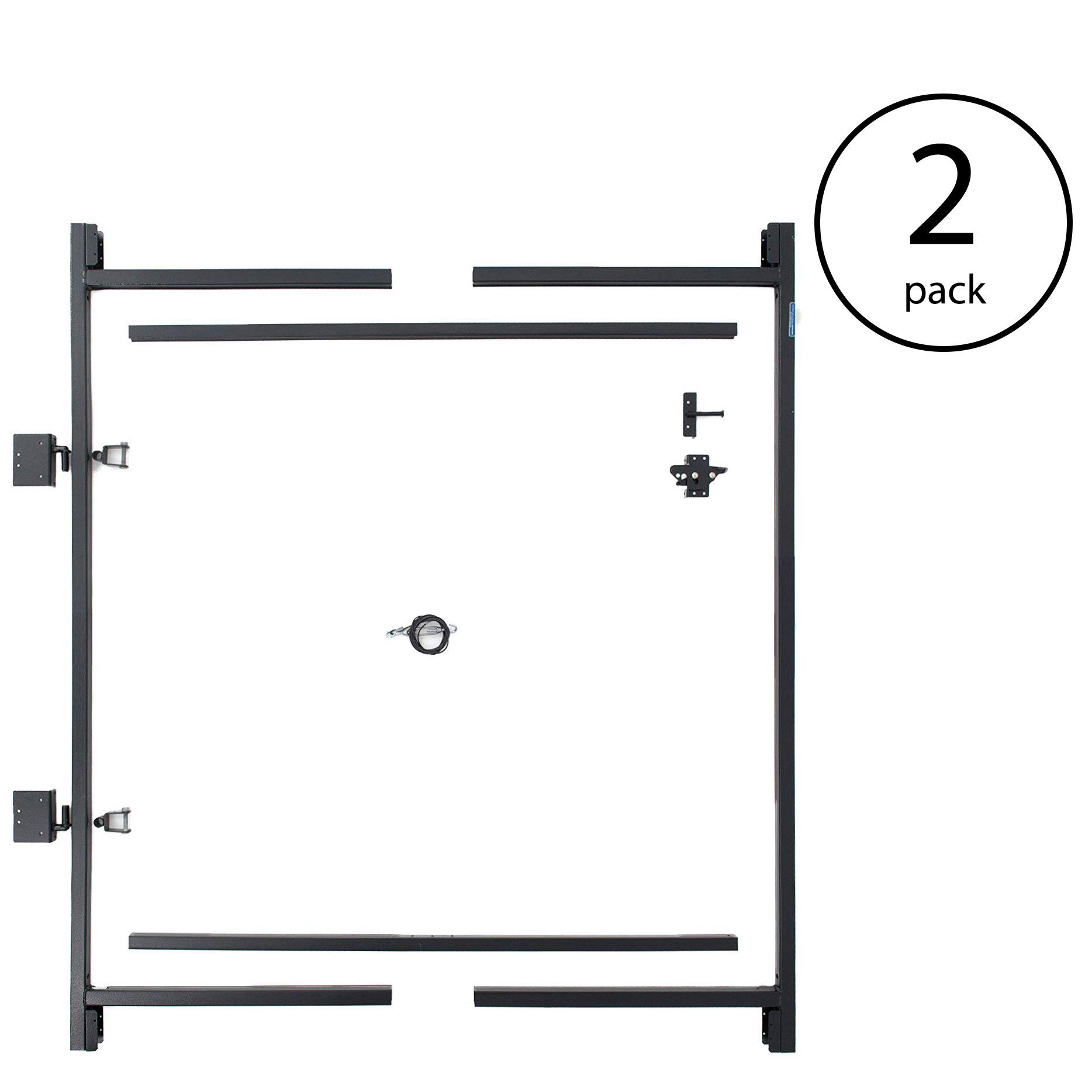 Adjust-A-Gate Steel Frame Gate Building Kit, 60''-96'' Wide Opening Up to 5' High (2 Pack)